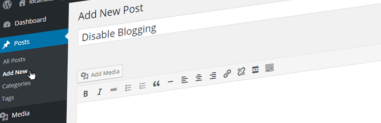 desativar blogs WordPress Plugin