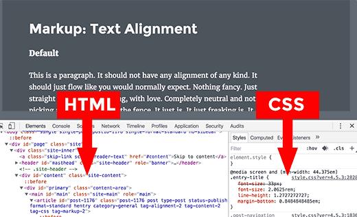 inspeksi kode HTML-CSS