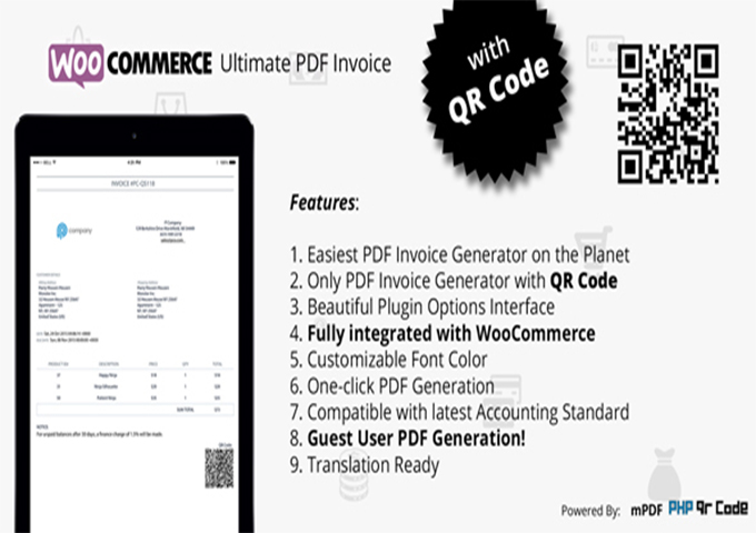 WooCommerce Ultimate Pdf Invoice Plugin WooCommerce Create Bill   Pdf Invoice Generator