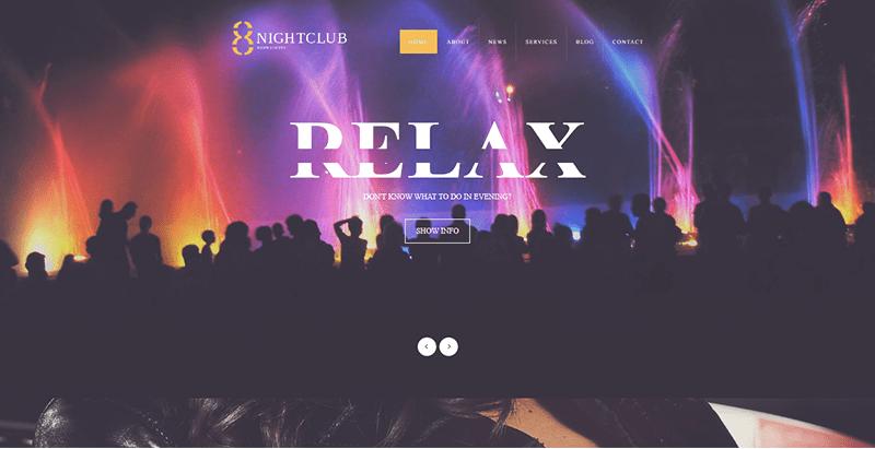 8 nightclub theme wordpress creer site web night club boite nuit 1