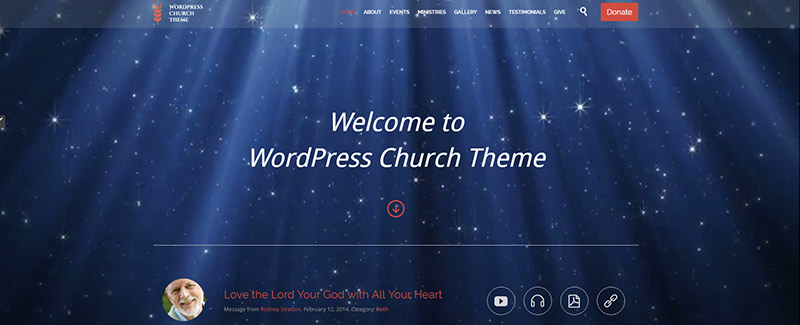 Church and events themes wordpress site internet eglise blogpascher