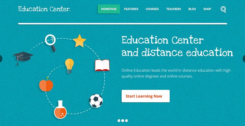 Education center - meilleurs thèmes WordPress pour blog éducatif