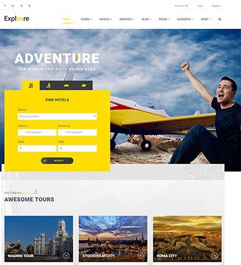 Exploore – Un Thème WordPress Pour Site Web Pour Agence De Voyages