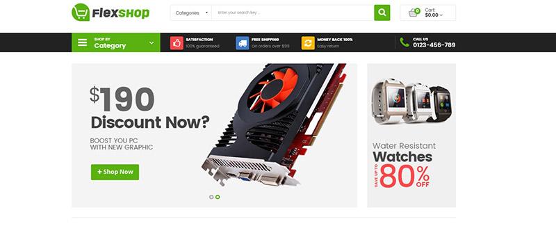 flexshop-тема-PrestaShop-продажа-продукция-электронно-blogpascher
