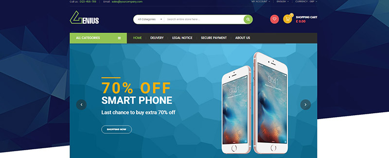 Гений-тема-PrestaShop-продажа-продукция-электронно-blogpascher