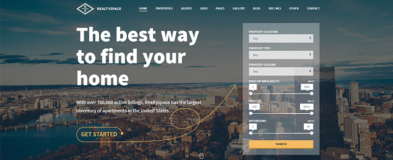 Realtyspace themes wordpress vendre louer biens immobiliers blogpascher
