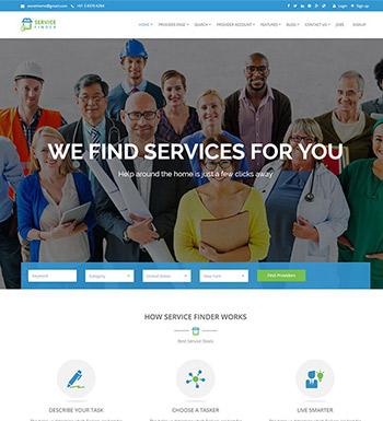 Service Finder – Un Thème WordPress Pour Site Web De Réservation