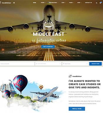 Travel Advisor – Un Thème WordPress Pour Site Web D'agence De Voyages