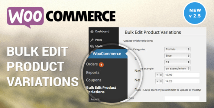 Harga produk variabel edit massal Woocommerce plugin wordpress mengedit produk massal