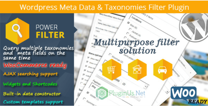 meilleurs plugins WooCommerce - WordPress meta data taxonomies filter