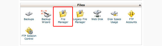 cpanel-gestionnaire-de-fichiers