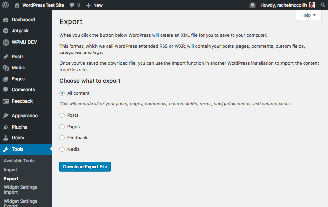 exportation-wordpress-contenu