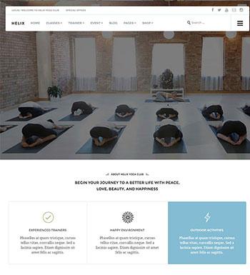 Helix – Un Thème WordPress Pour Club Yoga