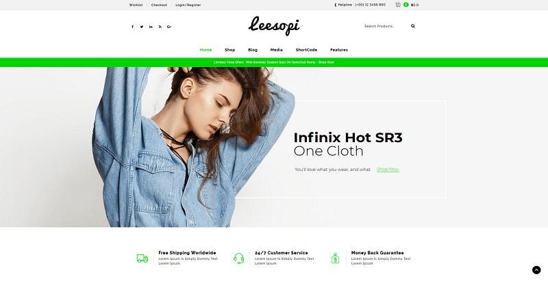 site web de vente de vêtements - Leesopi