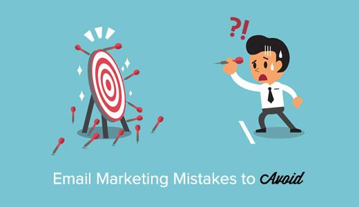 marketing par email erreur à éviter