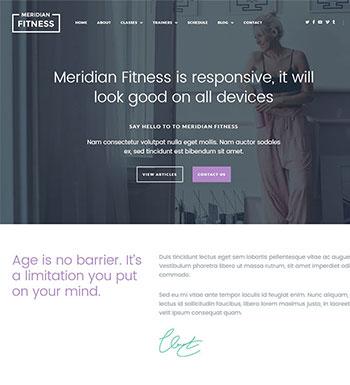 Meridian Fitness –  Un Thème WordPress Pour Club De Yoga