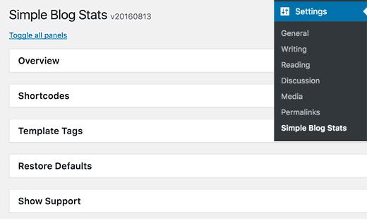 одного блога-статистика стола до края-WordPress