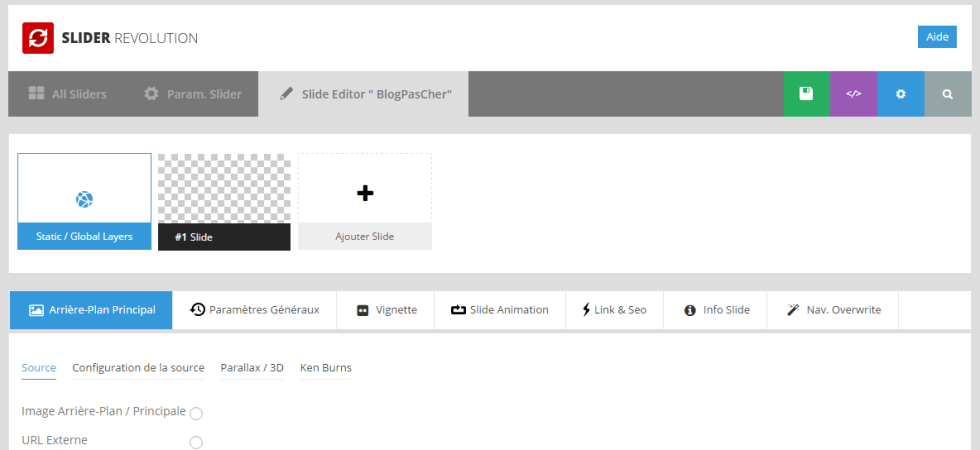 редактор слайд-переворот-слайдер