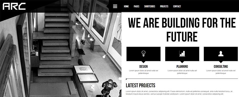 arco-íris temas-wordpress-site-internet-arquitetos-arquitetura-portfólio
