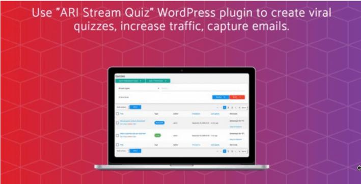 Créer un quiz - Ari stream quiz wordpress viral quiz creator e1543471667471