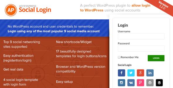 o login accesspress-sociais
