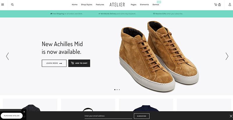Atelier theme wordpress site ecommerce boutique en ligne