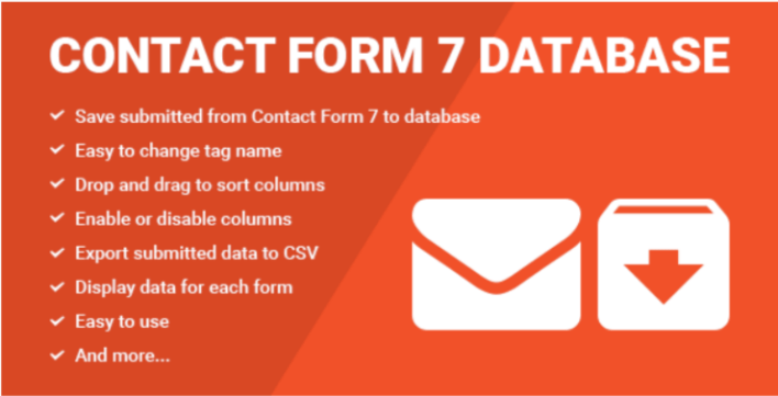 Contact form seven cf7 database