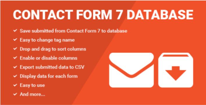 meilleurs plugins WordPress - Contact form seven cf7 database