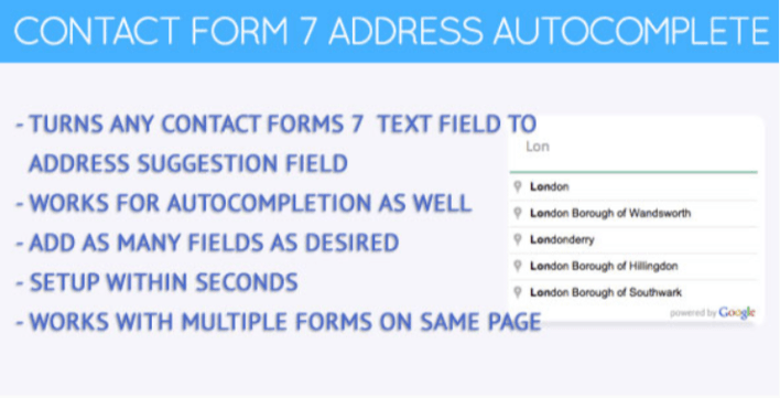 Contact forms 7 address autocomplete