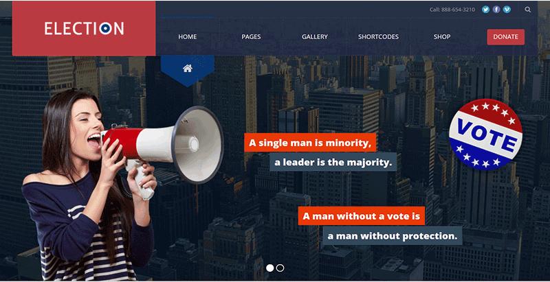 Election premium wordpress theme