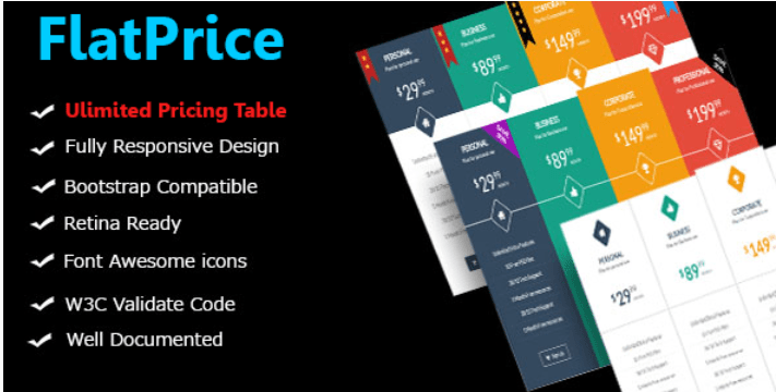 Flatprice wordpress pricing tables