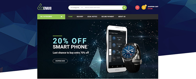 Genius themes prestashop site e commerce smartphones