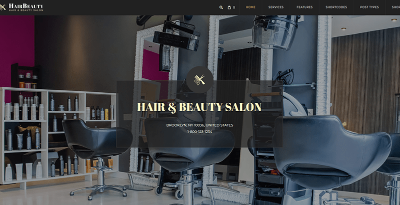 Hairbeauty themes wordpress site web coiffeur
