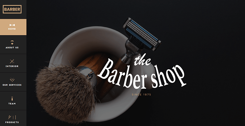 Ngr barbershop themes wordpress site web coiffeur