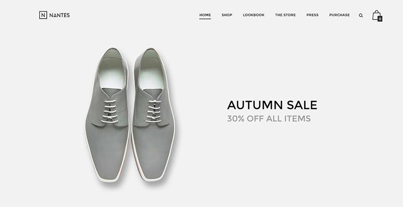 Nantes theme wordpress site ecommerce boutique en ligne