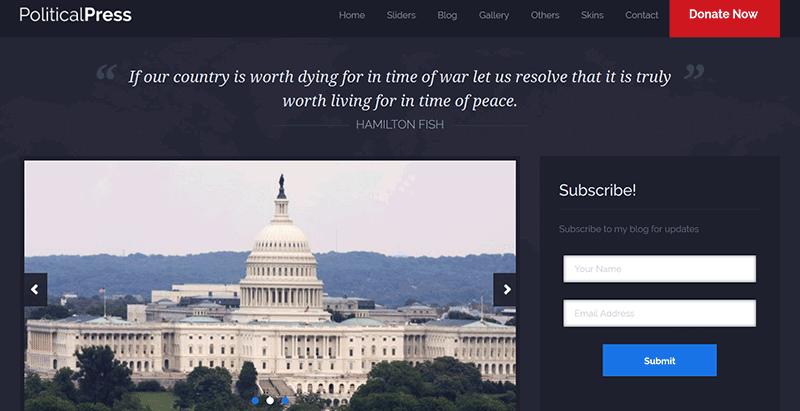 Political press premium wordpress theme