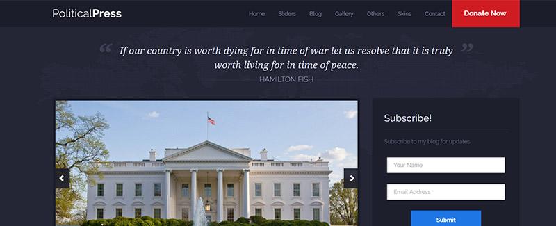 10 Temas de WordPress para crear un sitio web político | BlogPasCher