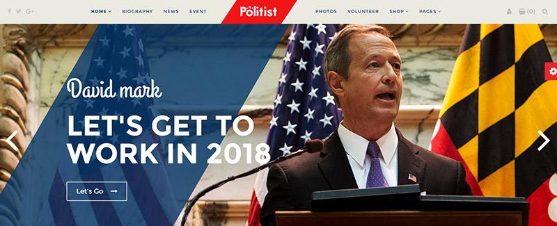 10 thèmes WordPress pour créer un site web de politicien
