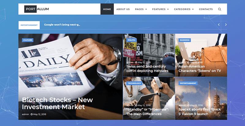Portallum Wordpress Theme Wordpress Magazine