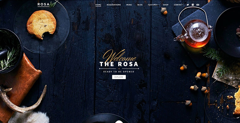 rosa-tema-wordpress-crear el sitio Web-restaurante