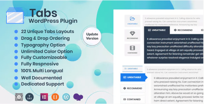 Tabs wordpress plugin