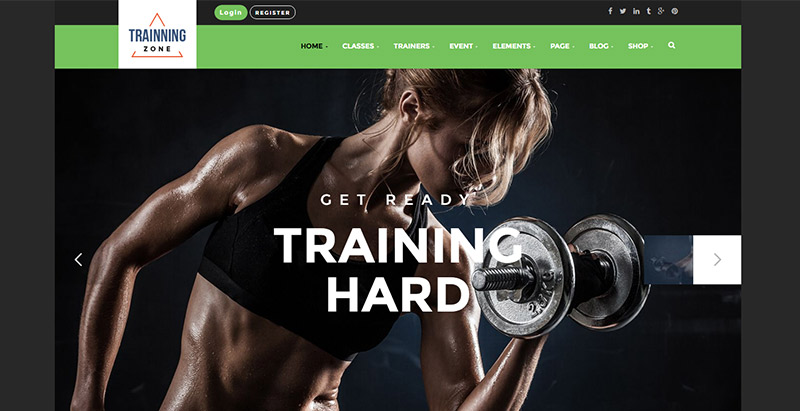 trainning zone theme wordpress site internet salle sport club gym fitness blogpascher. Black Bedroom Furniture Sets. Home Design Ideas
