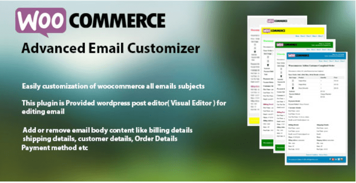 Woocommerce advanced email customizer