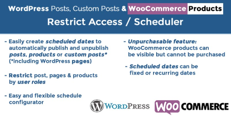 wordpress-posts-woocommerce-restrict-access-and-products-scheduler