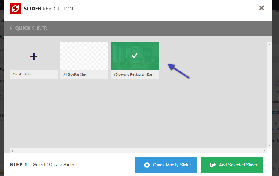 comment afficher un diaporama revolution slider sur wordpress