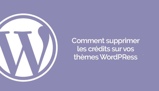 Cómo desactivar los créditos de WordPress en sus temas | BlogPasCher