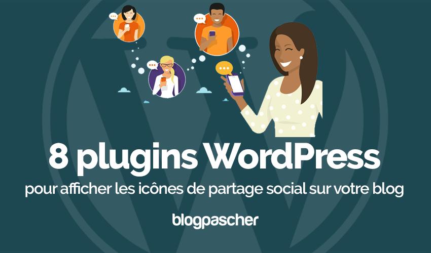 Plugin wordpress afficher icônes partage social blog