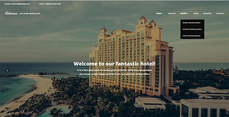 adomusl-тема-WordPress создать сайт-интернет-отель-мотель