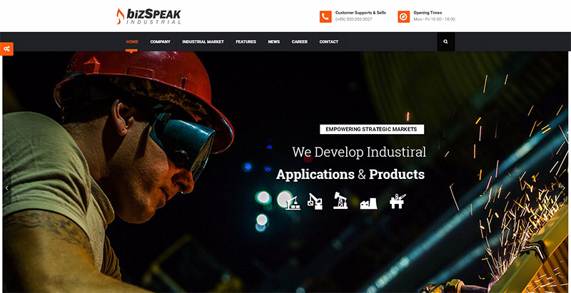 bizspeak-10-tema-wordpress-membuat-web-site--usaha industri