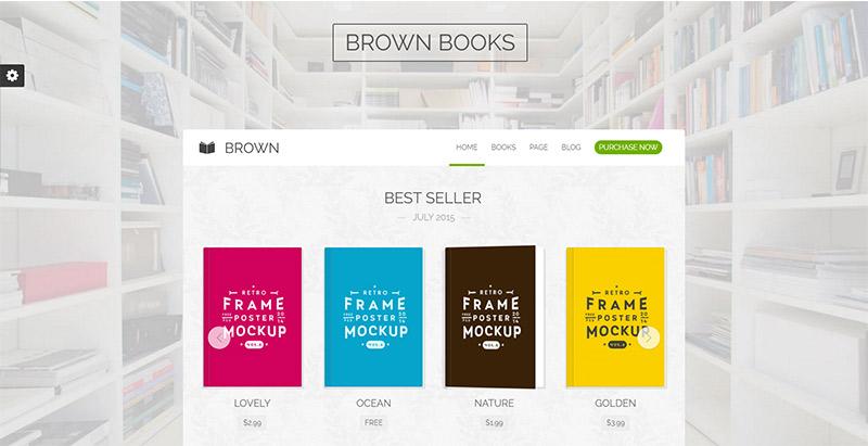 brown-themes-wordpress-site-internet-vente-ebooks-librairie-bibliotheque-auteur-maison-edition